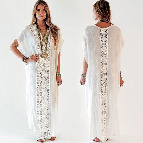 New  ruffled lace loose long skirt  bikini swimsuit blouse wholesale nihaojewelry NHXW243952's discount tags