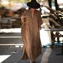 New Leopard Dot Cardigan Vacation Long Skirt Beach Cover dress wholesale nihaojewelry NHXW243960