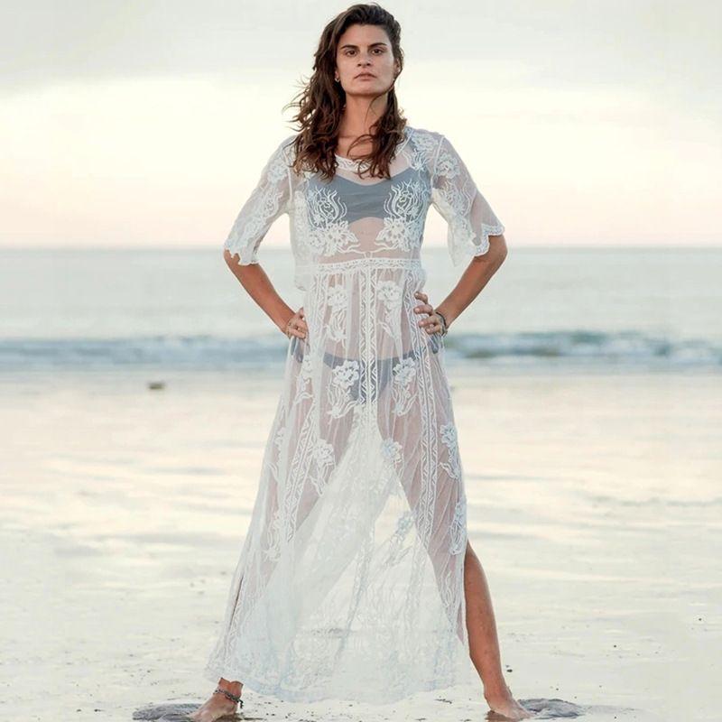 New style lace long skirt loose beach skirt bikini swimsuit blouse wholesale nihaojewelry NHXW243961