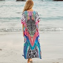 New beach blouse colorful leopard dot printing robe seaside vacation long skirt wholesale nihaojewelry NHXW243964