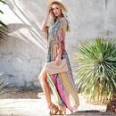 New cotton color cardigan beach skirt bikini blouse cardigan beach holiday skirt wholesale nihaojewelry NHXW243965