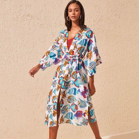 new style polyester cardigan beach bikini   jacket cardigan wholesale nihaojewelry NHXW243966's discount tags