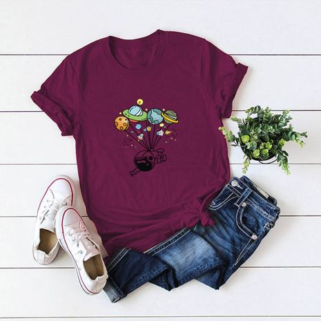 hot sale Slim cotton comfortable casual plus size short-sleeved women's T-shirt NHSN244072's discount tags