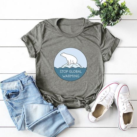 hot sale Slim cotton comfortable casual plus size short-sleeved women's T-shirt NHSN244082's discount tags