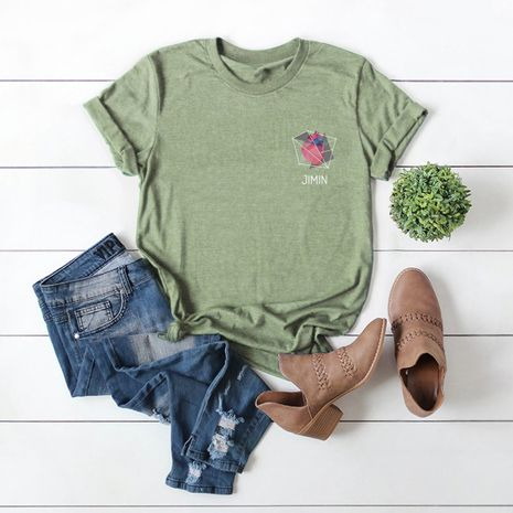 hot sale Slim cotton comfortable casual plus size short-sleeved women's T-shirt NHSN244088's discount tags