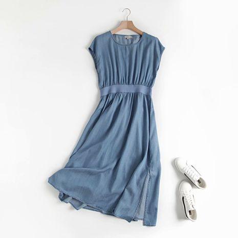 wholesale fashion new fall elastic waist women's denim dress hot-saling NHAM244108's discount tags