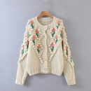 autumn handmade chain link sweater womens knitted cardigan jacket wholesale nihaojewelry NHAM244112