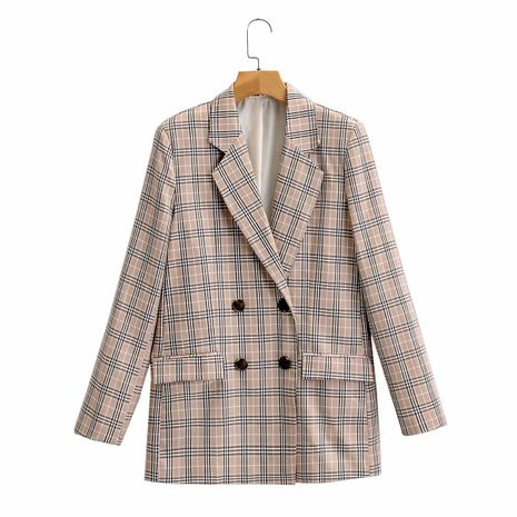 wholesale new all-match loose and thin double-breasted suit blazer top for women NHAM244117's discount tags