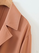 wholesale summer new allmatch fashion drape windbreaker midlength coat  NHAM244146