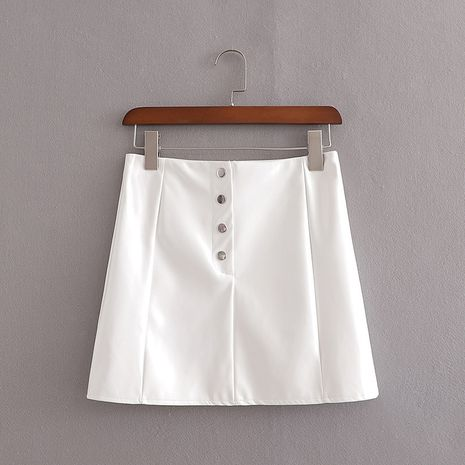 wholesale fashion autumn leather bag hip leather short skirt wholesale NHAM244170's discount tags