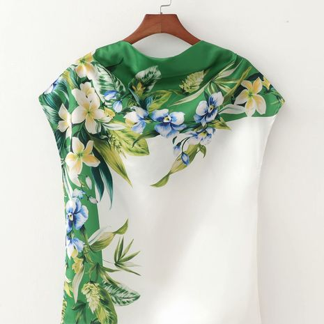 new flower print women's short-sleeved shirt top wholesale nihaojewelry NHAM244174's discount tags