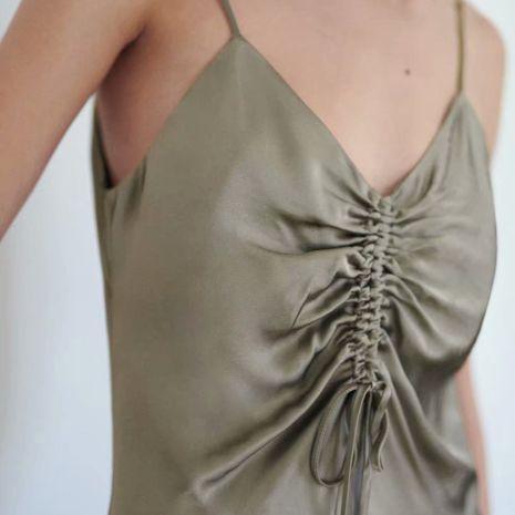 wholesale fashion autumn fold decoration underwear suspender dress  NHAM244190's discount tags