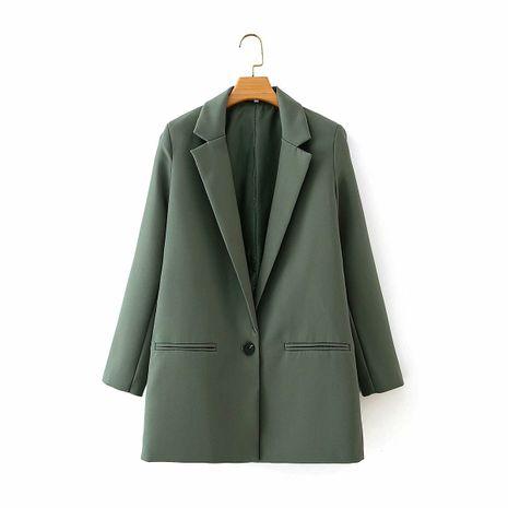 wholesale autumn new simple solid color suit one button suit jacket  NHAM244194's discount tags