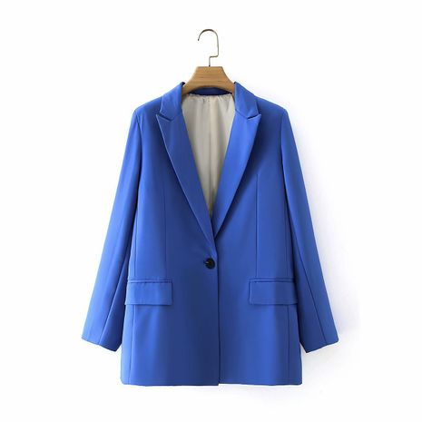 wholesale autumn new fashion long-sleeved lapel casual suit jacket for women NHAM244199's discount tags