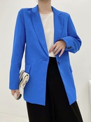 wholesale autumn new fashion longsleeved lapel casual suit jacket for women NHAM244199