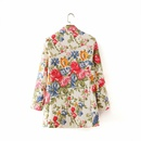 wholesale womens fashion allmatch slimming printed doublebreasted jacket  NHAM244200