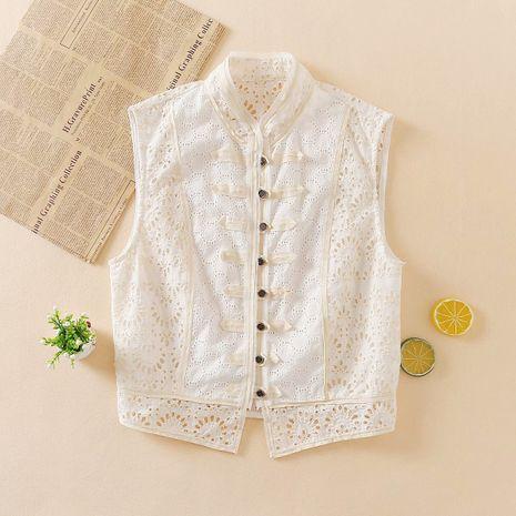 wholesale fashion autumn stitching lace women's vest top  NHAM244201's discount tags