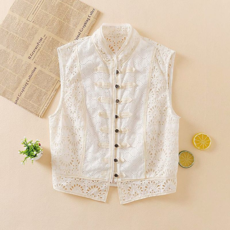 wholesale fashion autumn stitching lace women's vest top  NHAM244201