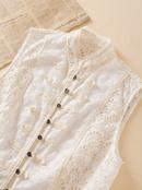 wholesale fashion autumn stitching lace womens vest top  NHAM244201