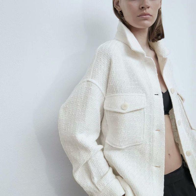 wholesale fashion autumn patch pocket shirt women's jacket  NHAM244207