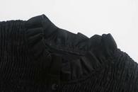 wholesale new autumn elastic stitching blouse top hotsaling NHAM244210