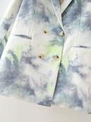 wholesale summer womens lapel longsleeved tiedye printing doublebreasted blazer  NHAM244215