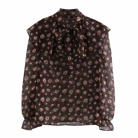 flower print blouse top wholesale  NHAM244225's discount tags