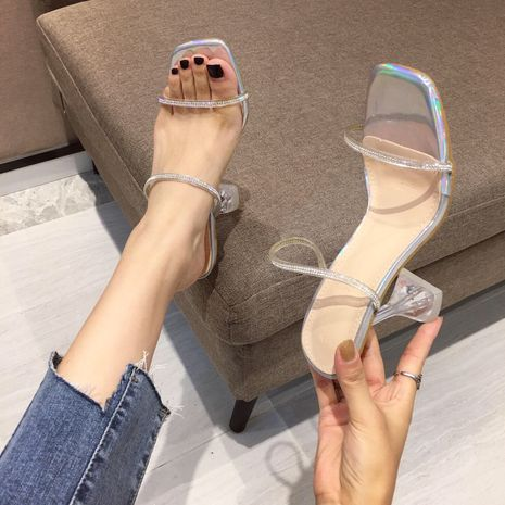 autumn new rhinestone high-heeled open-toed sandals and slippers wholesale nihaojewelry NHHU244231's discount tags