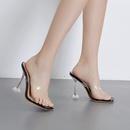 new womens flip flops sandals crystal transparent high heel sandals wholesale nihaojewelry NHSO244238