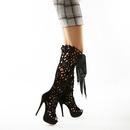 nouvelles bottes laser creuses pour femmes avec des bottes cool en ruban NHSO244243