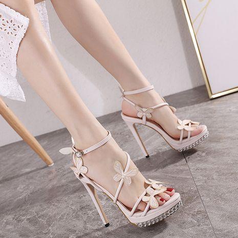 Sweet flower butterfly new paragraph ultra-high heel Handmade platform sandals NHCA244276's discount tags