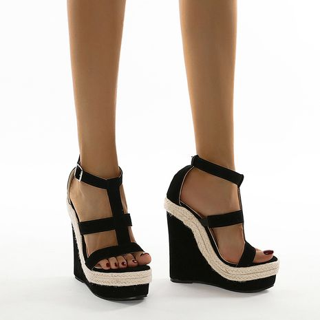 new summer slope with simple and comfortable high heel sandals  NHCA244285's discount tags