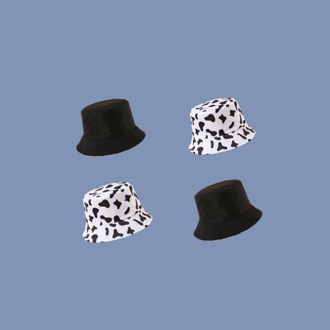 Fashion sunscreen bucket ladies autumn new Cow pattern double-sided fisherman hat hot-selling NHTQ243911's discount tags