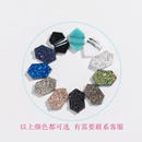 Fashion simple multicolor crystal cluster turquoise diamond pendant necklace  NHAN244401