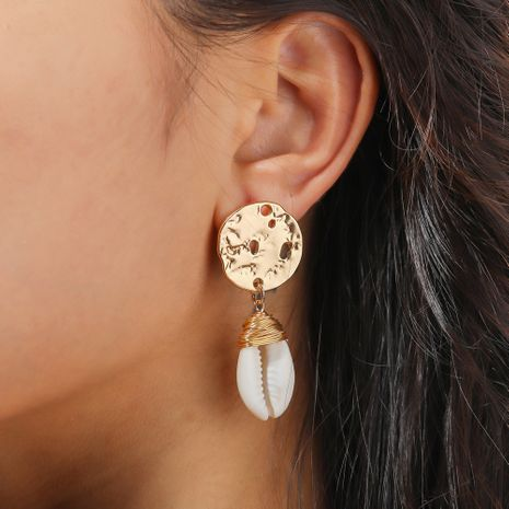 natural white shell fashion hand-woven earrings  NHAN244405's discount tags