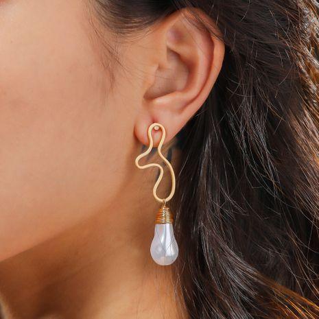 special-shaped pearl irregular metal earrings  wholesale  NHAN244413's discount tags