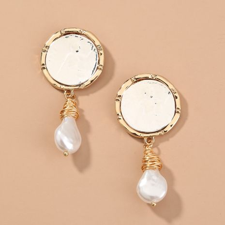 fashion style geometric earrings simple and versatile handmade pearl earrings wholesale nihaojewelry NHAN244441's discount tags