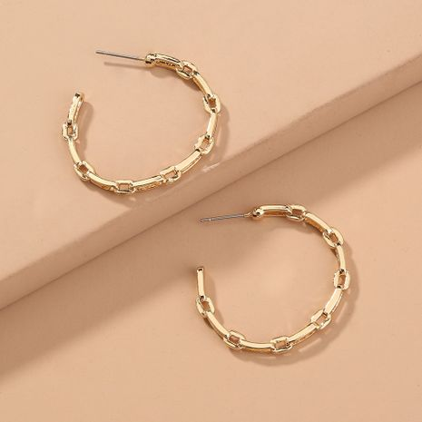 hot-selling sense metal earring lattice C-shaped fashion earrings wholesale nihaojewelry NHAN244442's discount tags