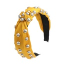 hotselling cotton and linen fabrics alloy hemispheres embellished with womens hair accessories  NHJE244476