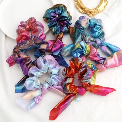 Fashion colorful gradient color large intestine circle bundle hair scrunchies wholesale NHJE244482's discount tags
