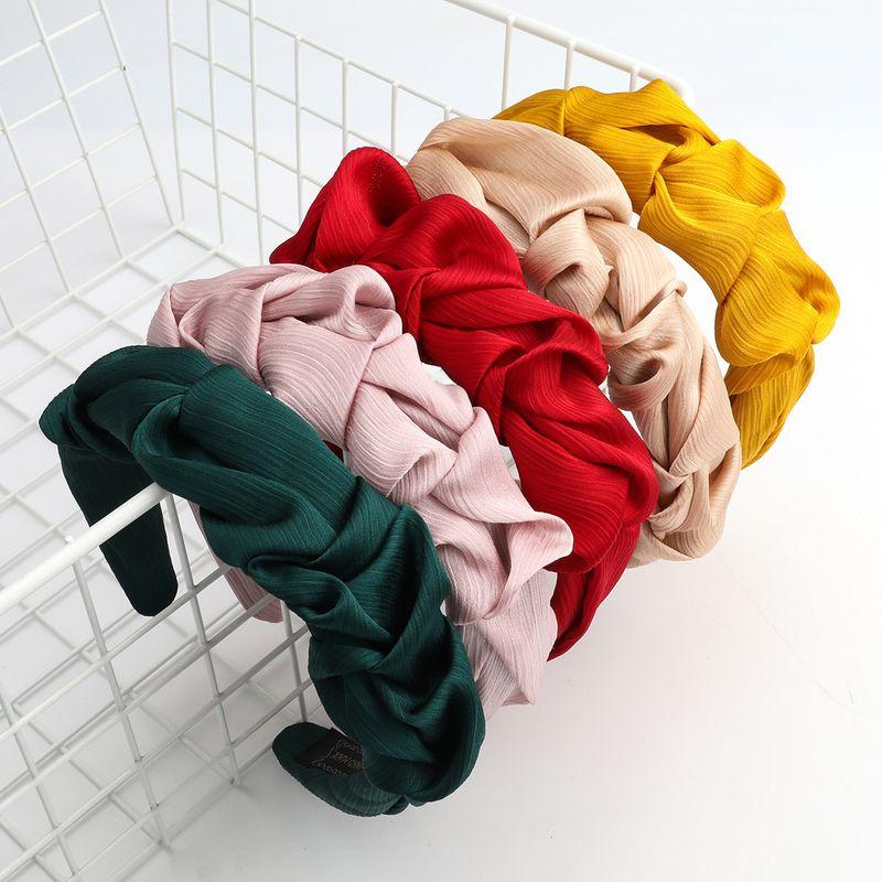 Bandeau de lavage coren  la mode en tissu simple pli NHJE244483