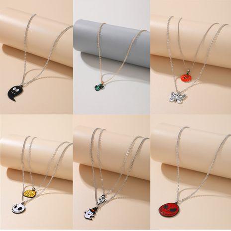 Halloween pumpkin earrings necklace ghost demon earrings wholesale nihaojewelry NHGY244511's discount tags