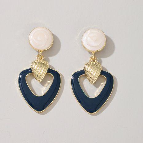 Korean popular fashion blue double love earrings new simple peach heart earrings  NHGY244514's discount tags