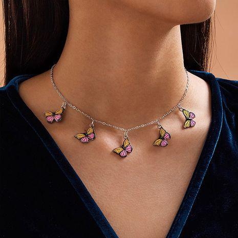Collier papillon en alliage doux et mignon de mode papillon pour les femmes NHNZ244525's discount tags