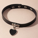Chane de clavicule en alliage de collier d39amour de tendance de cuir simple de mode pour les femmes NHNZ244526