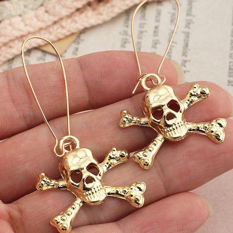 Halloween long skull Funny metal earrings ear hooks wholesale nihaojewelry NHNZ244533's discount tags