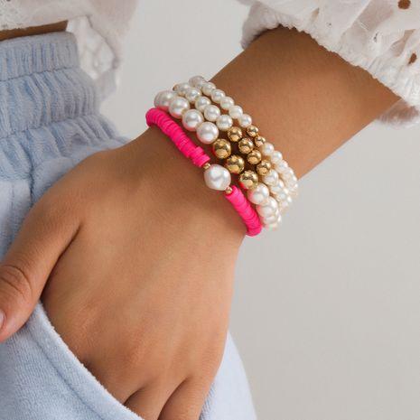 Moda venta caliente tamaño perla simple mezclada pulsera de joyería para mujer NHXR244560's discount tags