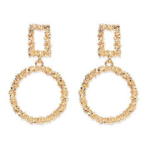 boucles d'oreilles en forme de goutte en alliage d'or minimaliste exagéré en gros nihaojewelry NHCT244565's discount tags