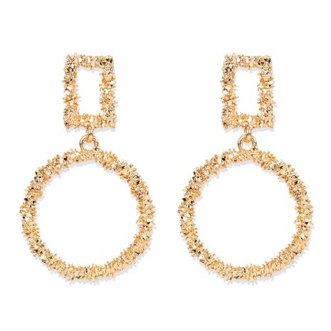 exaggerated minimalist gold alloy drop-shaped earrings wholesale nihaojewelry NHCT244565's discount tags
