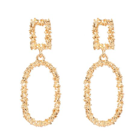 Exaggerated alloy geometric oval simple earrings wholesale nihaojewelry NHCT244566's discount tags